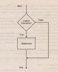 Flowchart representation of the if statement.