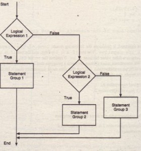 Flowchart for the general i f structure.