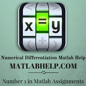 Numerical Differentiation Matlab Help