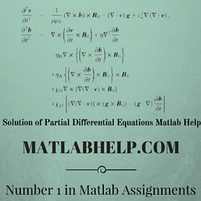 Solution of Partial Differential Equations Matlab Help